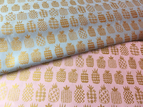 Dashwood Studios Ocean Drive metallic pineapples  available in two colours; pink
