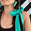 Thumbnail: Hair scrunchie with bow, available in three fabrics