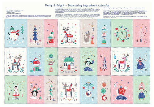 Christmas Advent Calendar Panel from Dashwood - Merry and Bright Gold Metallic