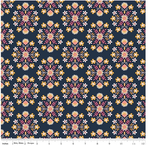 Floral prints, Riley Blake's Golden Aster available in two colours