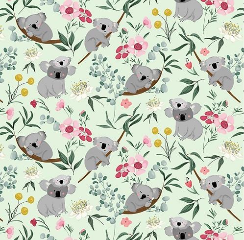 Koala fabric, Aussie Friends by P & B fabrics, fat quarter