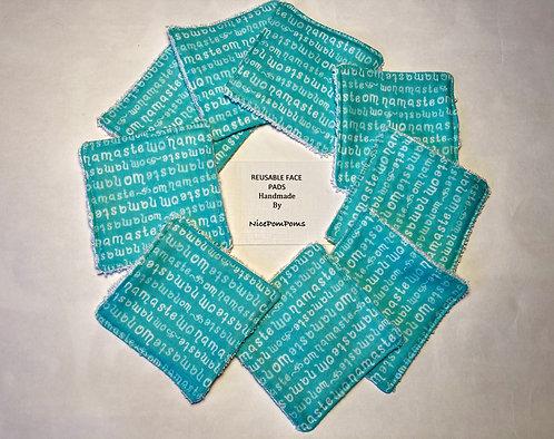 Reusable face pads with a drawstring bag