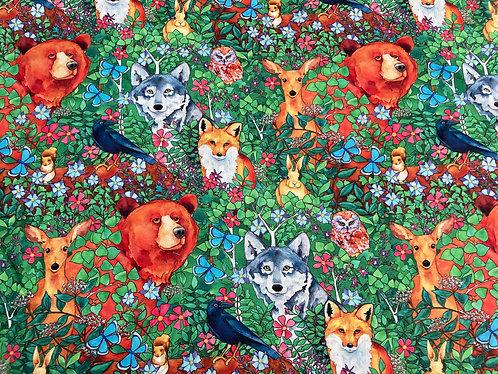 Woodland Fantasy Digital fabric by Blank Quilting FAT QUARTER