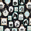 Thumbnail: Michael Miller's 'Little Portraits' animal cotton fabric, in navy and gr