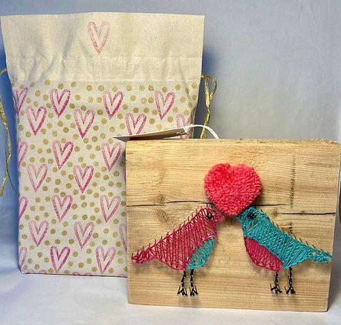 Unique Valentines gift, Valentines gift set, Valentines string art,