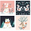Thumbnail: Dashwood Studio Winterwood 10″ Squares Panel, (UK-based textile design company)