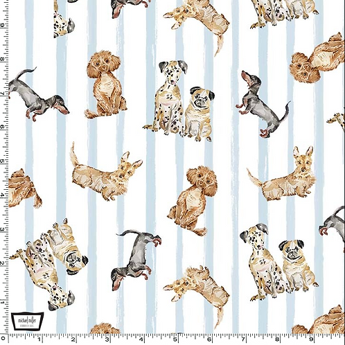 Michael Miller's 'Paws up; dog friendly' fabric