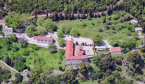 The Monastery of St. John is 15 km NE of Nafpaktos near the mountain village of Vomvokou on the eastern slope of Mount Riganion.