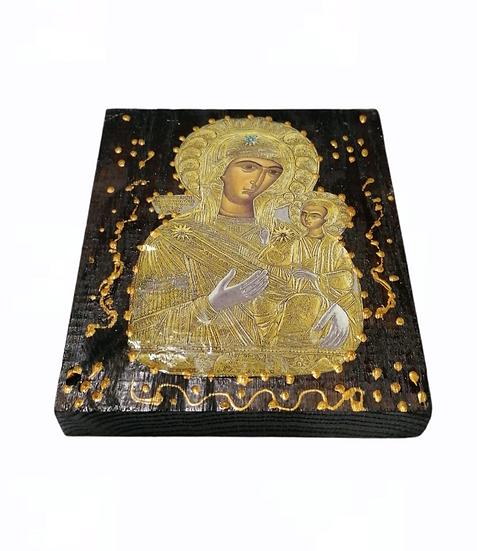 Icon on wood