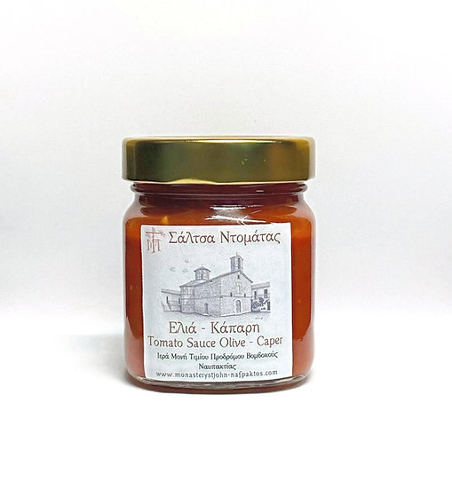 Tomato sauce with olives and caper