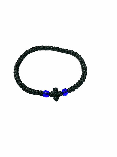 Black & Two-Colored Thin Waxed Prayer Rope for KIDS