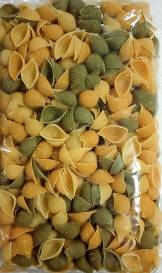 Pasta shells with carrot and spinach (Vegan)