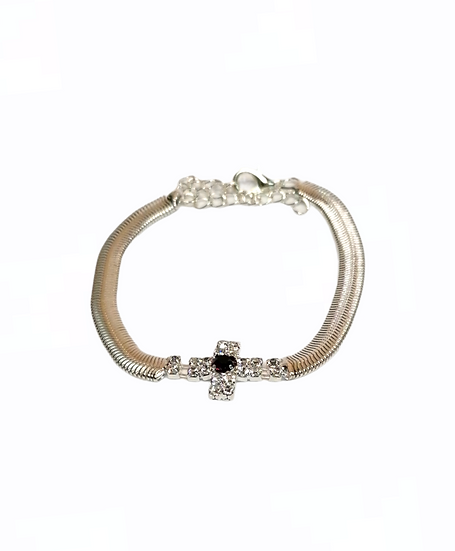 Bracelet of strass - thick chain