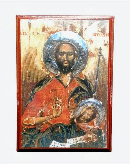 St John the Baptist wooden icon