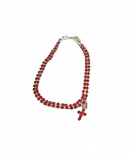 Bracelets of strass - thin chain