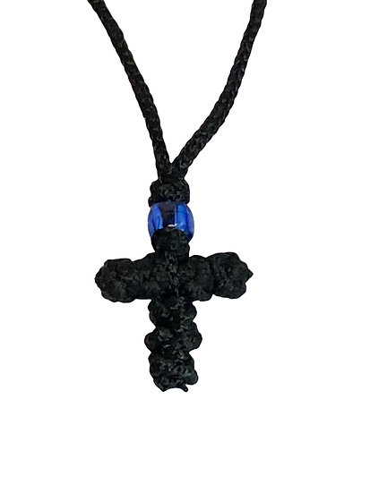 Neck cross with synthetic silk - prayer rope