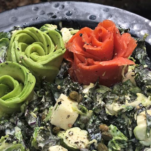 Smoked Salmon Kale Caesar