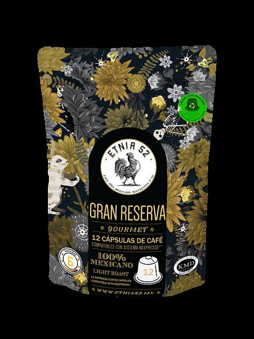 12 Cápsulas de Café Gran Reserva (INTENSIDAD 6)