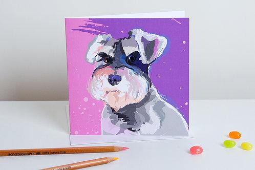 'Cooper' Schnauzer – Card