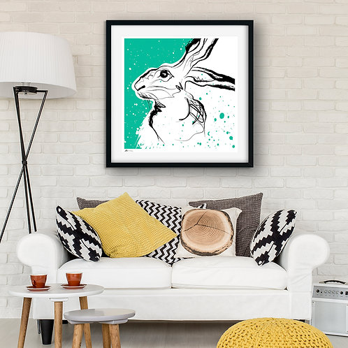 'Quiet Hare' Limited Edition Print