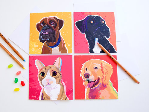 Pack of 8 Notecards (Vibrant set)