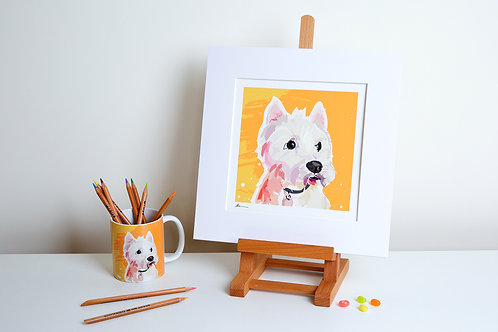 'Toby' West Highland Terrier – Print