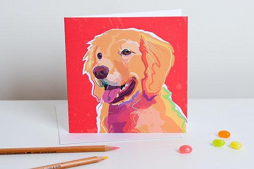 'Bella' Golden Retriever – Card