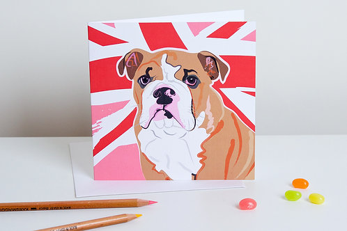 'Connie' English Bull Dog – Card