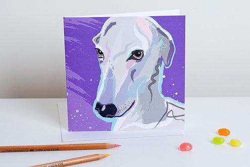 'Racer' Italian Greyhound – Card