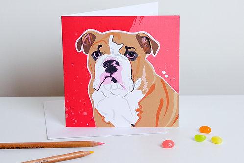 'Connie' English Bull Dog – Card