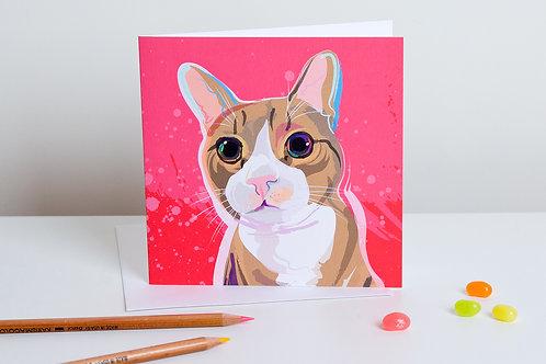 'Oscar' Tabby cat – Card
