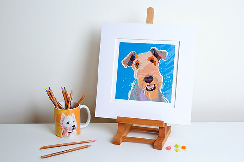 'Fred' Fox Terrier – Print