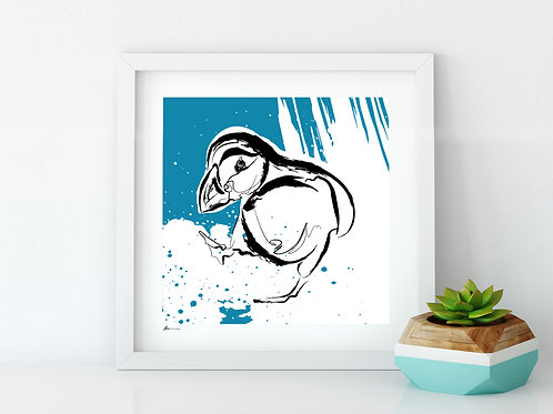'Puffin' Print