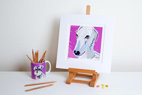 'Racer' Italian Greyhound – Print