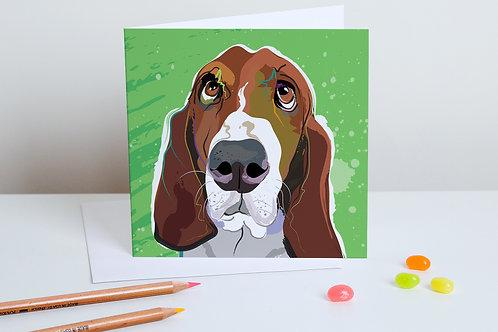 'Benny' Basset Hound – Card