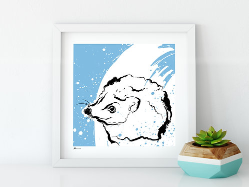 'Happy Hedgehog' Print
