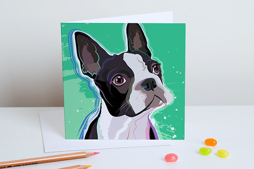 'Baxter' Boston Terrier – Card