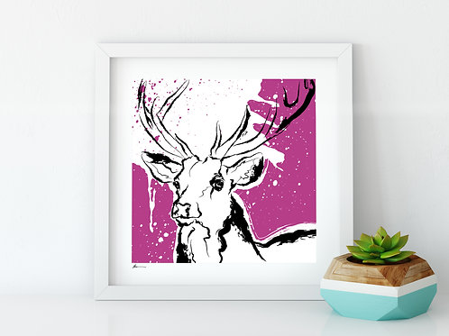 'Proud Stag' Limited Edition Print
