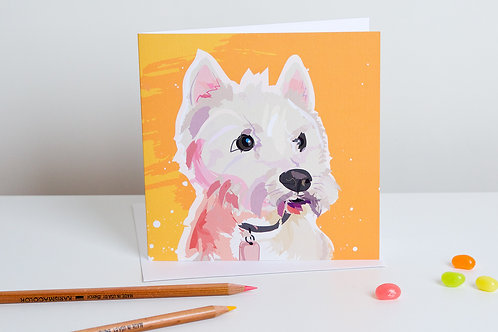 'Toby' West Highland Terrier – Card