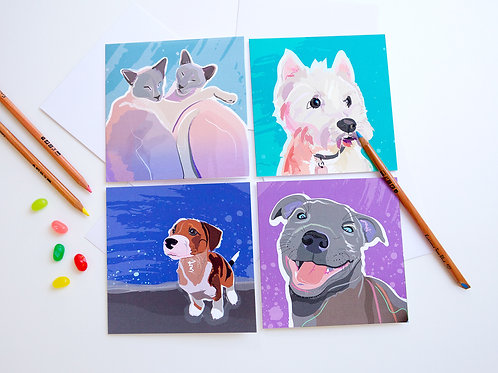 Pack of 8 Notecards (Cool set)