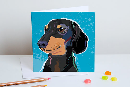 'Pickle' Dachshund – Card