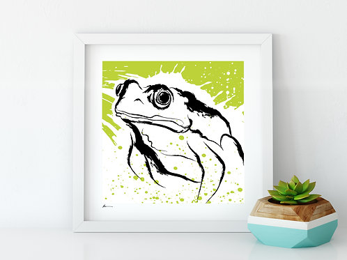 'Friendly Frog' Print