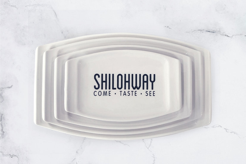 The Shilohway Collection: 4-Piece New Bone China Platter Set