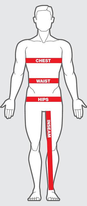 FitMenteam Fitness Belt sizing chart