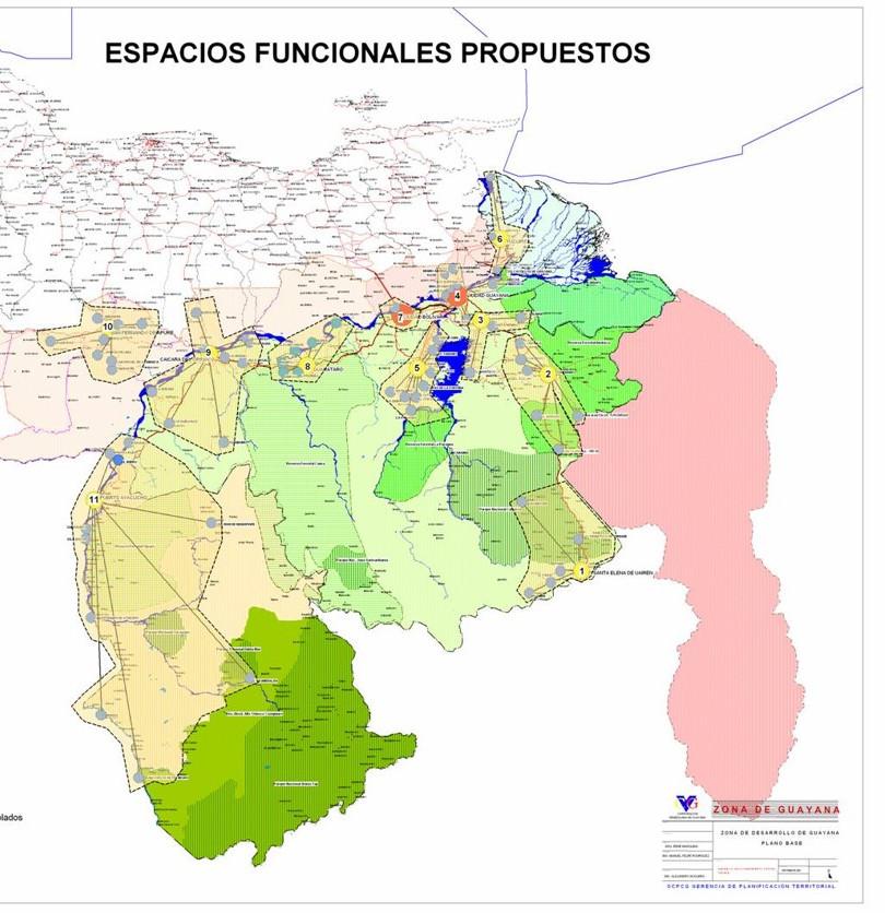 Plan Maestro para el Desarrollo de Nuevas Ciudades, estados: Bolívar, Amazonas, Delta Amacuro y Monagas - Venezuela