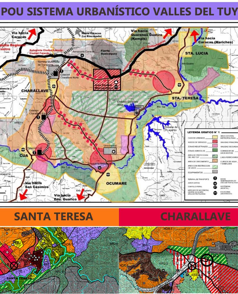 Plan de Ordenación Urbanística de los Valles del Tuy. Municipios Cristóbal Rojas, Urdaneta, Lander, Simón Bolívar, Independencia y Paz Castillo. Estado Miranda
