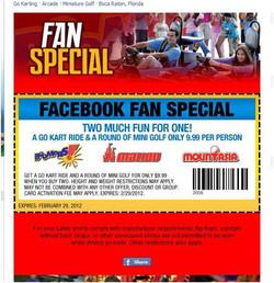 Facebook Fan Coupons