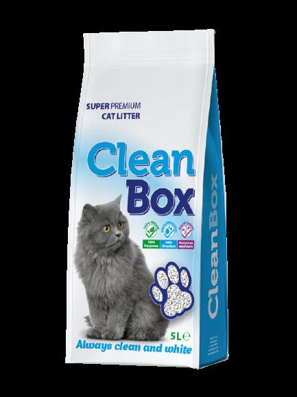 CLEAN BOX CAT LITTER 5LT NATURAL