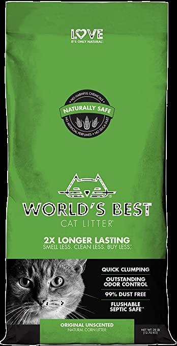 WORLD'S BEST CAT LITTER 3.18Kg NATURAL GREEN