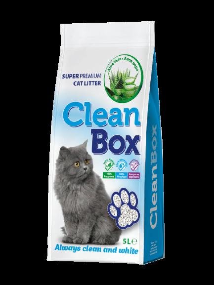 CLEAN BOX CAT LITTER 5LT ALOE VERA